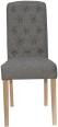 Button Back Chair- Dark Grey