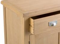 Belle Lime- Washed Oak 2 Door 6 Drawer Sideboard