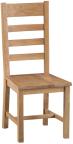 Belle Oak Ladder Back Chair Wooden Seat