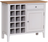 Freya Painted Oak Wine Cabinet