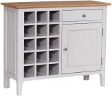 Freya Painted Oak Wine Cabinet