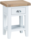 Pippa Painted Side Table With Lime Washed Oak Top- White