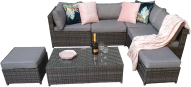 Chelsea Modular Sofa Set With 'Tuck Away' Storage- Grey