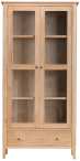 Freya Oak Display Cabinet With Lights