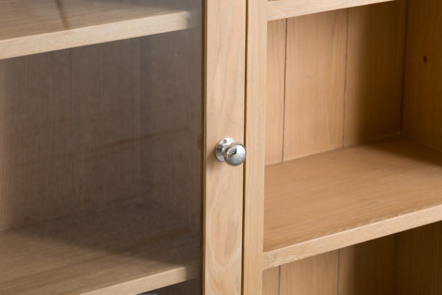 Belle Lime- Washed Oak Large Dresser Top With Glass Doors