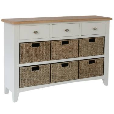 Blue Lagoon Furniture Wicker Basket Storage Units