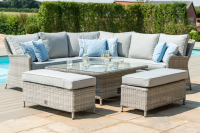 Oxford Royal Corner Sofa Dining Set With Rising Table And Ice Bucket