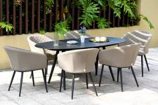 Ambition 6 Seater Oval Dining- Taupe