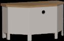 Isabella Painted Oak Corner TV Unit