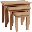 Rosie Oak Nest Of 3 Tables