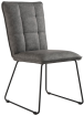 Panel Back Chair With Angled Legs- Grey