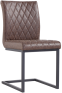 Diamond Stitch Armless Chair- Brown