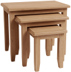 Rosie Oak Nest Of 3 Tables