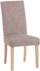 Studded Dining Chair With Tweed Fabric