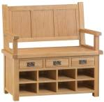 Belle Oak Monks Bench