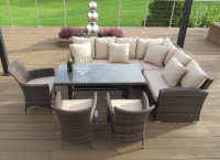 Barcelona Sofa Dining Set With Rising Table