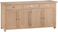 Oak 4 Door Sideboard