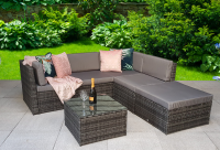 Seville Modular Corner Sofa Set- Grey