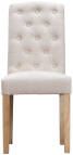 Button Back Chair- Beige
