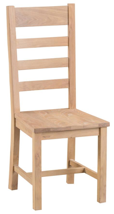 Oak Ladder Back Chair Wooden Seat