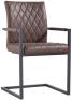 Diamond Stitch Carver Chair- Brown