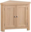 Belle Lime- Washed Oak Corner Cabinet