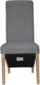 Wave Back Fabric Chair- Light Grey