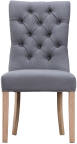 Curved Button Back Chair- Grey