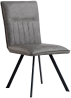 Dining Chair With Metal Legs- Grey