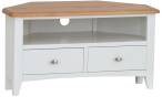 Rosie Painted Oak Corner TV Unit- White
