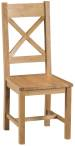 Belle Oak Cross Back Chair Wooden Seat