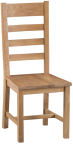 Belle Oak Ladder Back Chair Wooden Seat