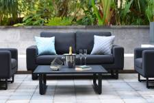 Ethos 2 Seater Sofa Set- Charcoal