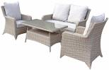 Sarah 4 Seat Sofa Set With High Coffee Table- Natural