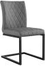 Diamond Stitch Armless Chair- Grey