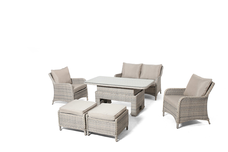 Cotswold 2 Seat Sofa Dining Set With Rising Table