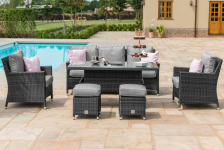 Barcelona Sofa Dining Set With Rising Table And Ice Bucket
