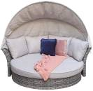 Lily Daybed With Hood- Grey/ Brown