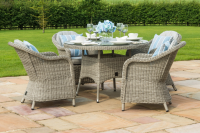 Oxford 4 Seat Round Dining Set