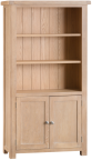 Belle Lime- Washed Oak Large Bookcase