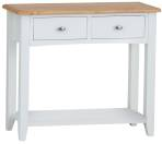 Rosie Painted Oak Console Table- White
