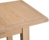 Belle Lime-Washed Oak 1m Butterfly Extending Table