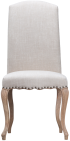 Luxury Chair With Studs And Carved Oak Legs