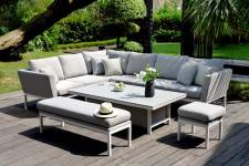 Pulse Rectangular Corner Dining Set With Rising Table- Lead Chine