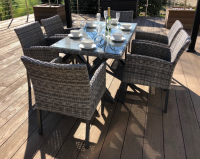 Paris 6 Seat Rectangle Dining Set