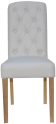 Button Back Chair- Natural