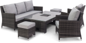 Venice Sofa Dining Set With Rising Table And Ice Bucket