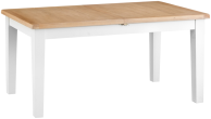 Pippa Grey/ White Painted 1.6 Butterfly Extending Table With Lime- Washed Oak Top