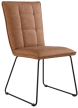 Panel Back Chair With Angled Legs- Tan