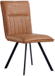 Dining Chair With Metal Legs- Tan